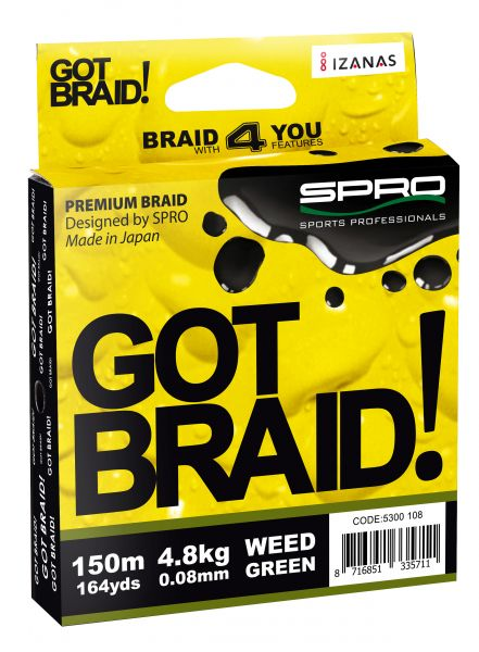 Spro Got Braid! Weed Green 150m
