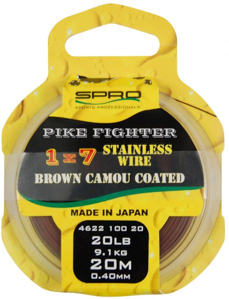 Spro Brown Coated Wire 1x7 Stahlvorfach